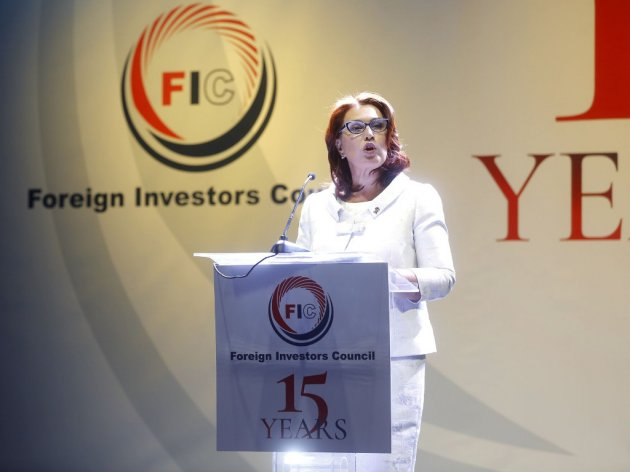 Yana Mikhailova at the celebration of 15 years of the Foreign Investors Council's activities