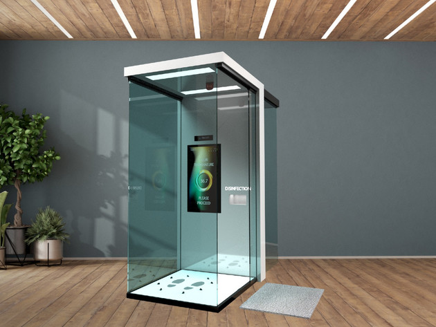 3D view of the booth