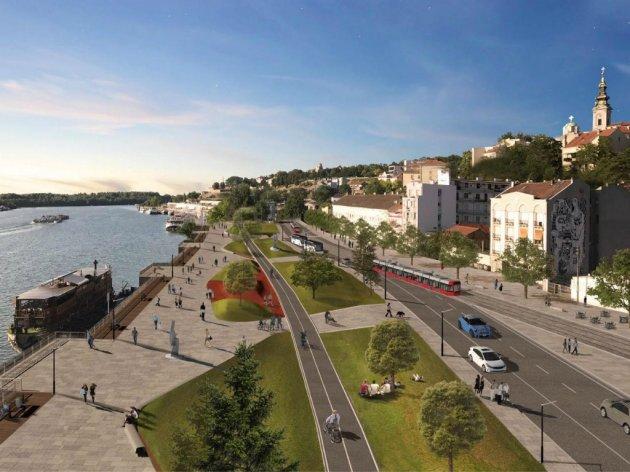 Karadjordjeva Straße in der Zukunft