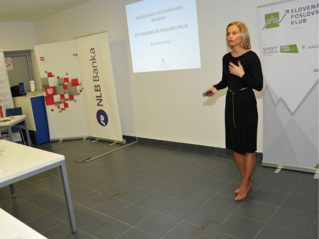 Sa prezentacije ECDR u Slovenačkom poslovnom klubu