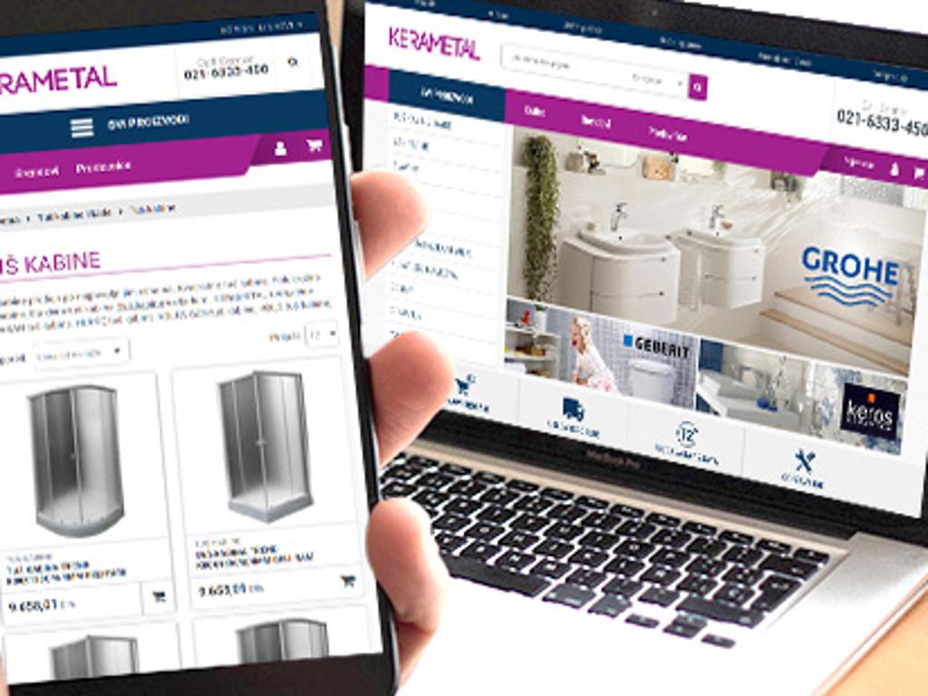 Više od 5.000 proizvoda za kupatila na novom sajtu novosadskog Kerametala