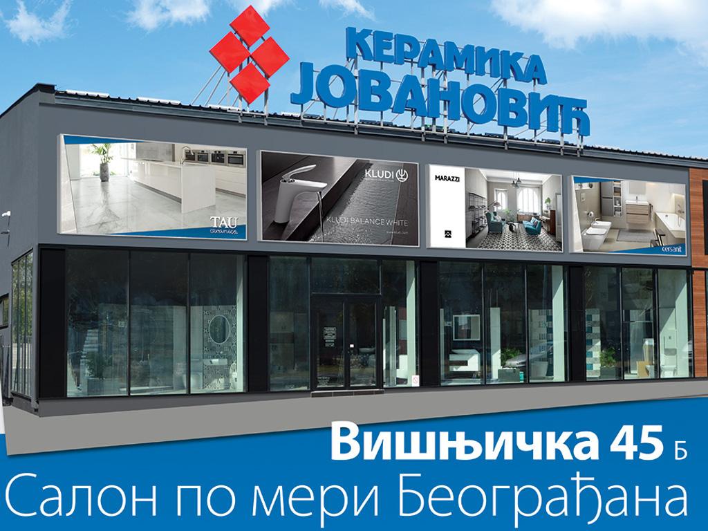 Novi salon keramike u Beogradu, u Višnjičkoj ulici