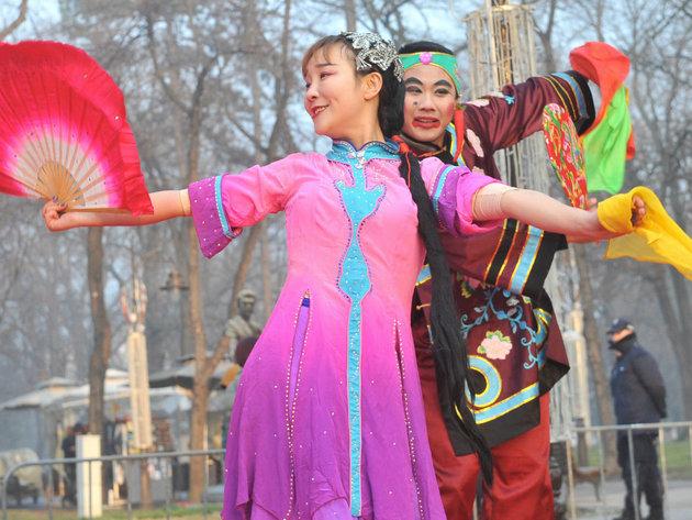 Eröffnung der chinesischen Neujahrsmesse in Kalemegdan - Chinesisches Neujahr wird auch in Novi Sad gefeiert