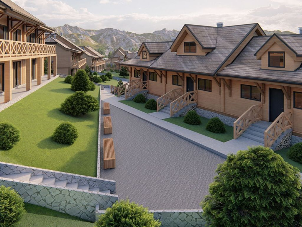 Construction of Tourist Complex Srebrnac on Kopaonik Soon – 54 Apartments in Type Houses Made of White Pinewood with Floor Heating and Spa Center