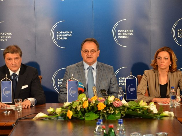 Dragan Djuricin, Aleksandar Vlahovic and Jelena Ristic
