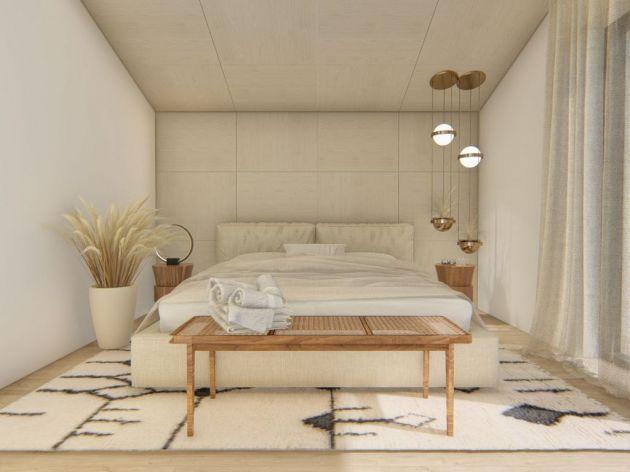 Schlafzimmer in der Wohnanlage Kosmajski vrtovi