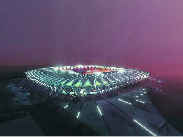 Future look of a stadium in Kragujevac