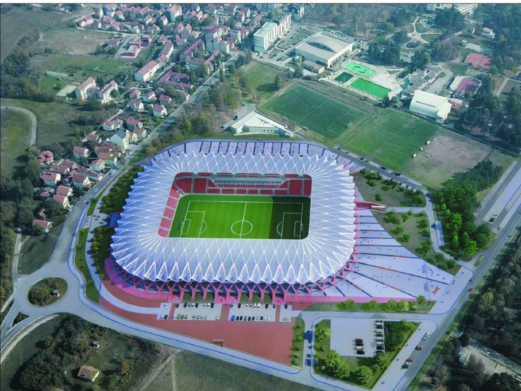 """Detalji projekta novog stadiona u Kragujevcu - """"Nacionalni"""" Čika Dača za skoro 20.000 gledalaca, sa tri pomoćna terena"""