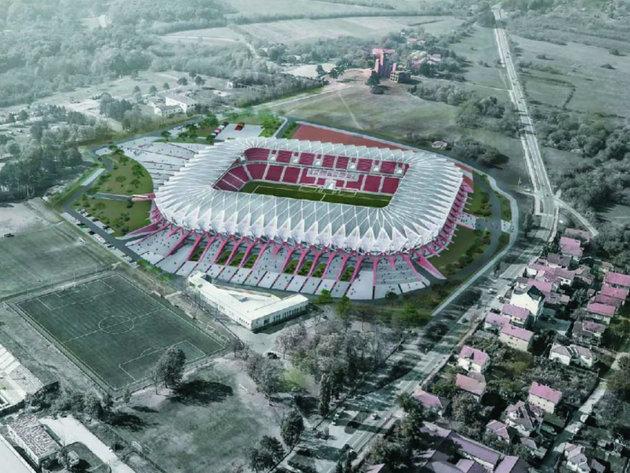 Future look of the stadium in Kragujevac