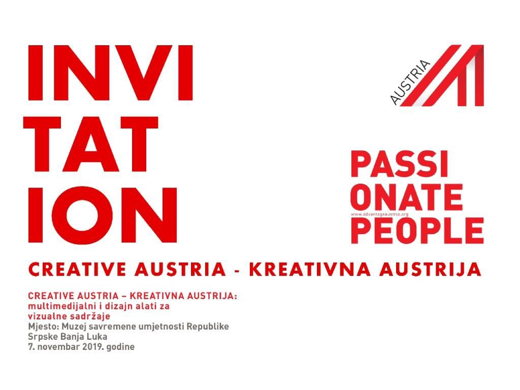 Austrijski dan kreativnih industrija 7. novembra u Banjaluci