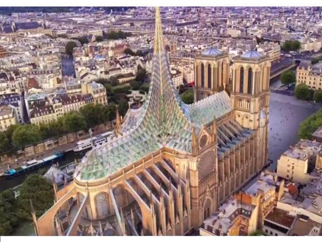Francuske arhitekte predlažu novi dizajn krova katedrale Notre Dame - Solarne ploče i urbani vrt za beskućnike (VIDEO)
