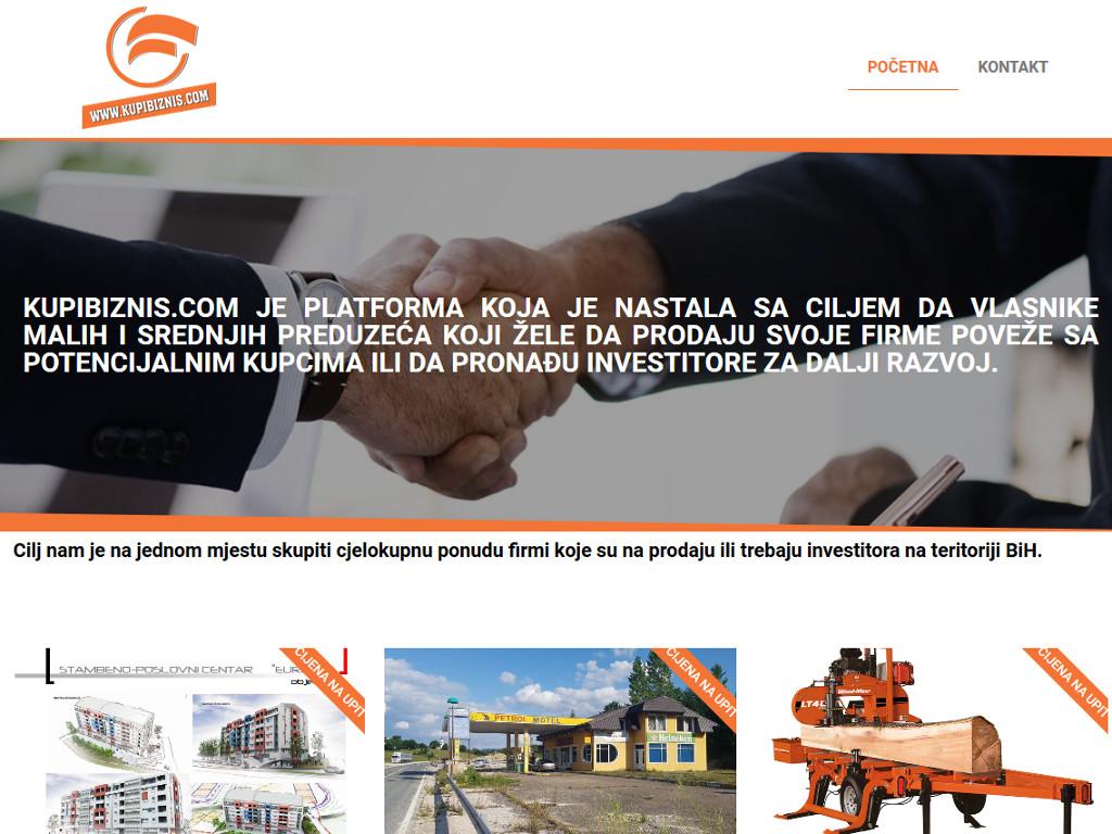 BiH dobila platformu za prodaju poslovanja - Kupibiznis.com povezuje vlasnike firmi sa potencijalnim kupcima