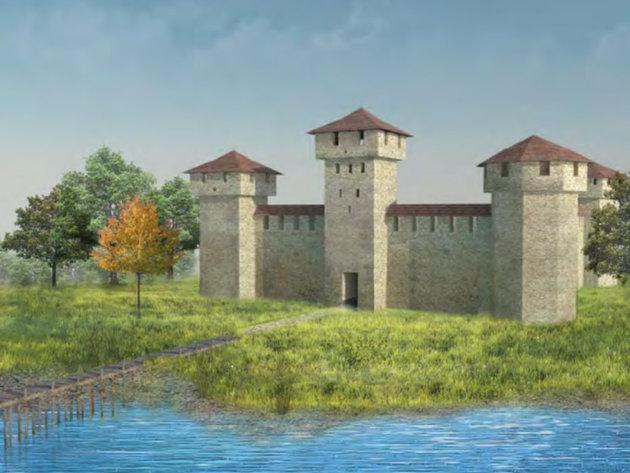 Model idealne rekonstrukcije tvrđave Kupinik