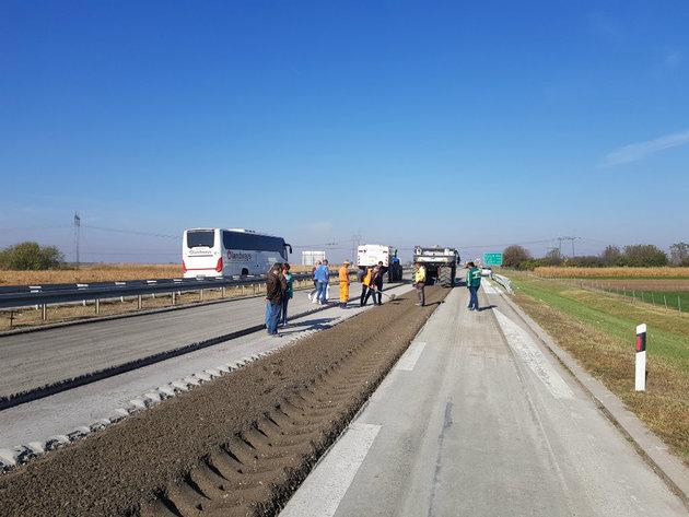 Rekonstrukcija auto-puta kod petlje Inđija, smer Bg-NS