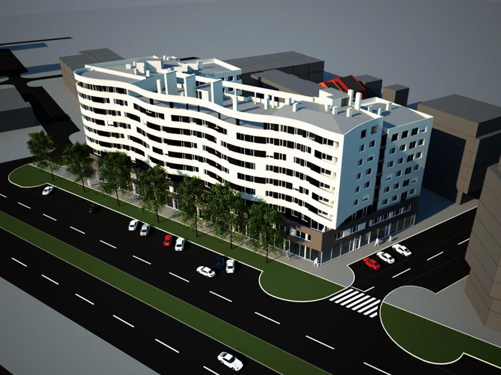 """Novi stanovi u """"Laguna Residence"""" na jesen 2015. - """"Dijagoninvest"""" počeo drugu fazu radova stambeno-poslovnog kompleksa u novosadskom Bulevaru Evrope (FOTO)"""