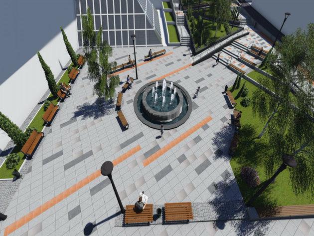 Planirani izgled trga u Lazarevcu