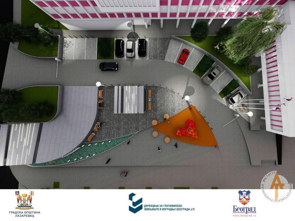 Počela rekonstrukcija trga i gradnja podzemne garaže u Lazarevcu (FOTO)