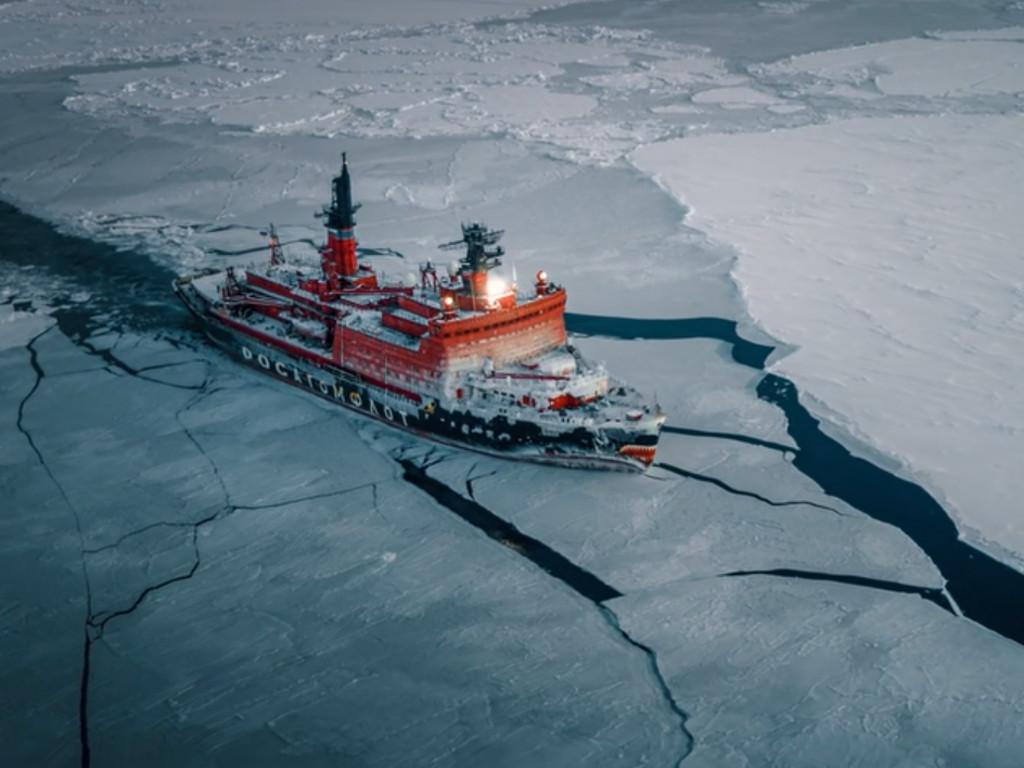 Rusija isprobala najmoćnijeg ledolomca svijeta (VIDEO)