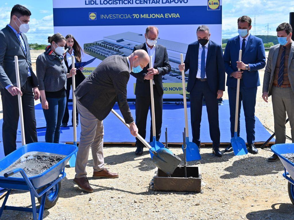 Lidl u Lapovu započeo gradnju drugog logističkog centra u Srbiji - Investicija od oko 70 mil EUR za 57.000 m2 prostora