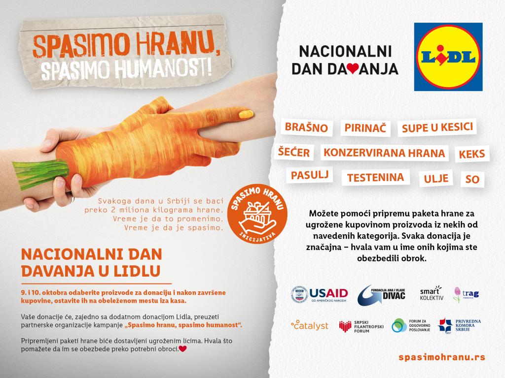 Spasimo hranu - Nacionalni dan davanja u Lidlu