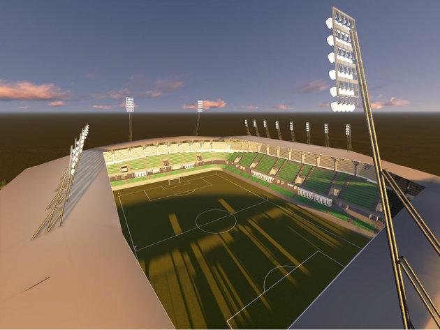 Budući izgled stadiona u Loznici