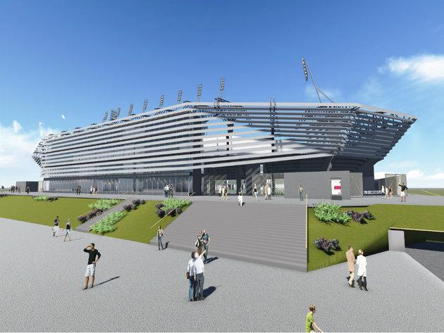 Projektovani izgled stadiona u Loznici