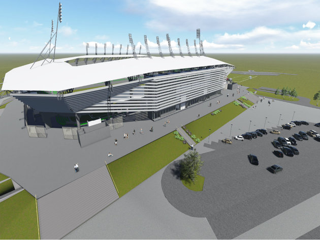 Planned look of the stadium in Loznica