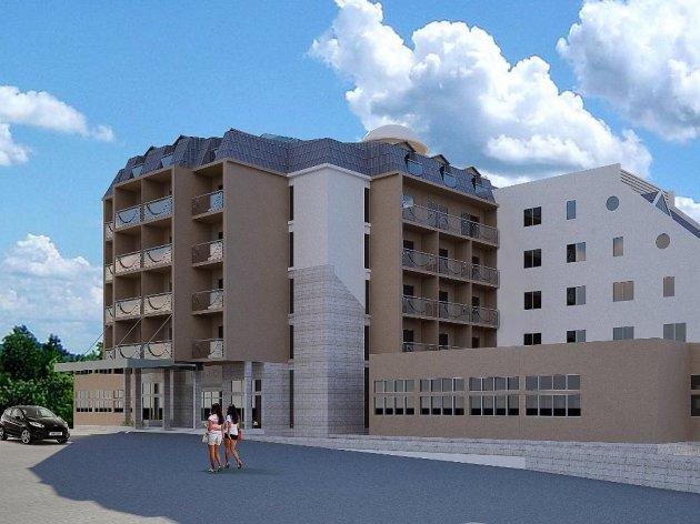 Budući izgled hotela u Lukovskoj banji