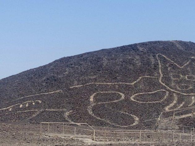 Arheolozi otkrili veliki crtež mačke na visoravni Naska