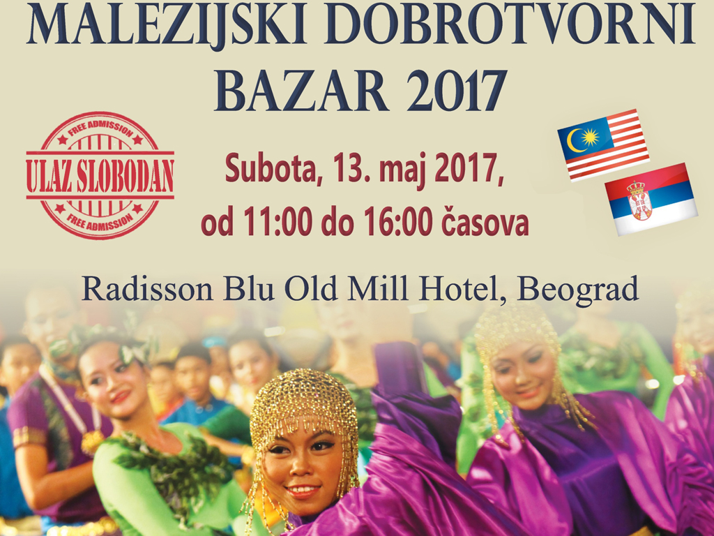 Fifth Malaysian Charity Bazaar on May 13 in Belgrade