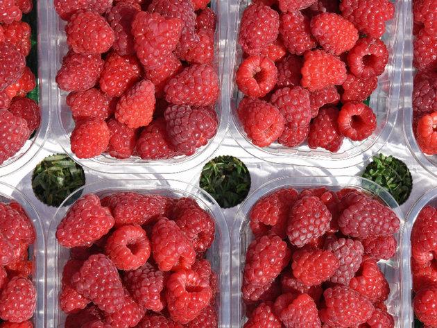 Fresh raspberries as a high-quality product