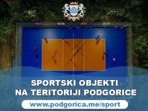 Kreirana interaktivna mapa sportskih objekata u Podgorici