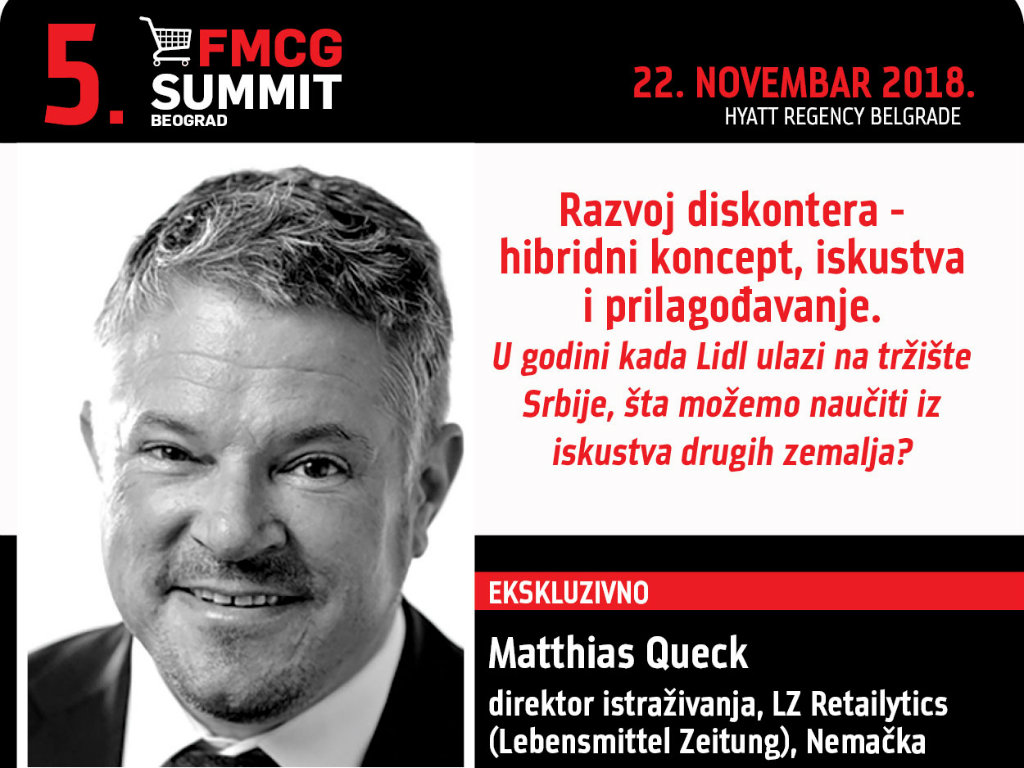 Matthias Queck, direktor istraživanja u međunarodnoj analitičkoj platformi LZ Retailytics - Diskonteri još imaju dosta potencijala za rast