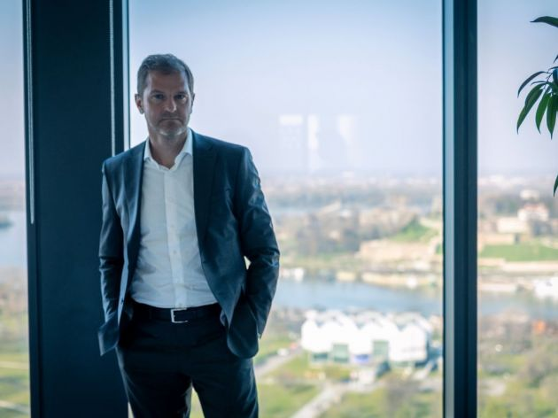The Sava is not the limit: the head of MPC Properties in an office on the 21st floor of Tower 2