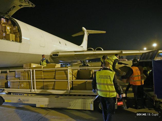 U Crnu Goru stiglo 17 tona medicinske opreme vrijedne 2 mil EUR