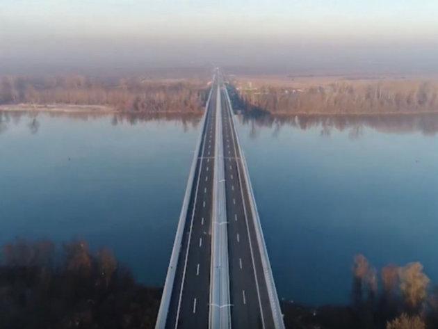 Brücke über die Save und die Kolubara im neuen Abschnitt