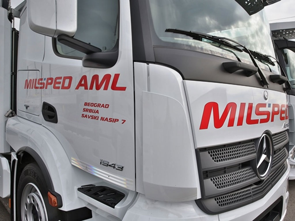 """""""Milšped AML"""" u 2016. godini investira 3,5 mil EUR u kupovinu novih vozila"""