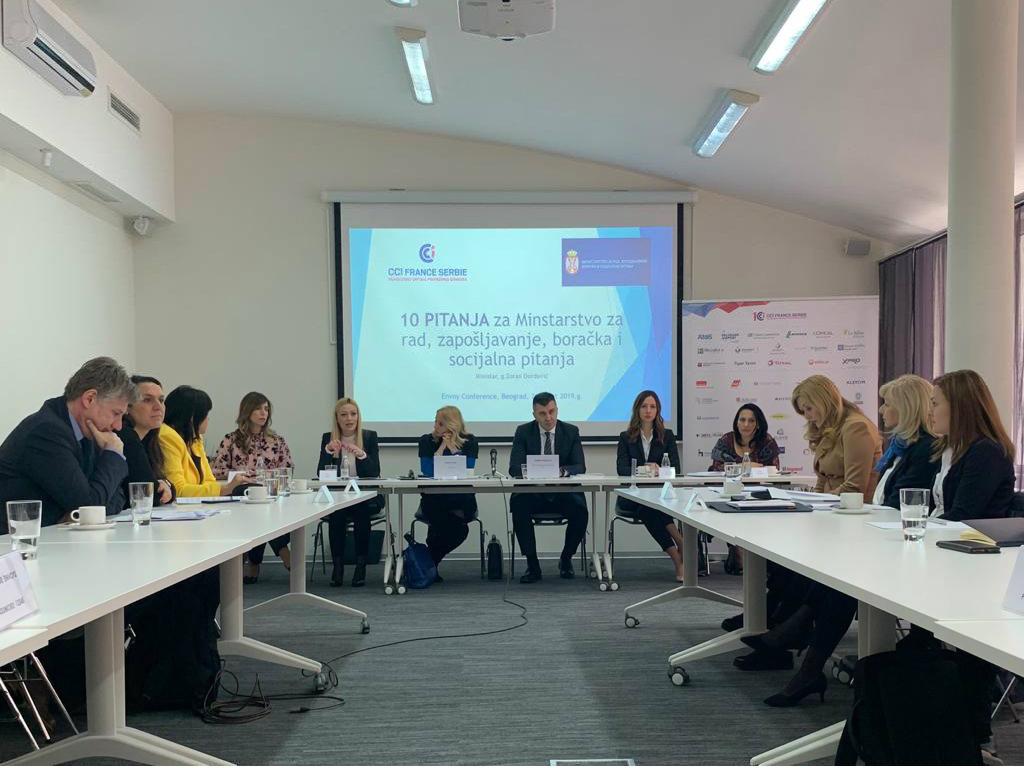 Okrugli sto francusko-srpske privredne komore - Pitanja privrednika ministru Đorđeviću