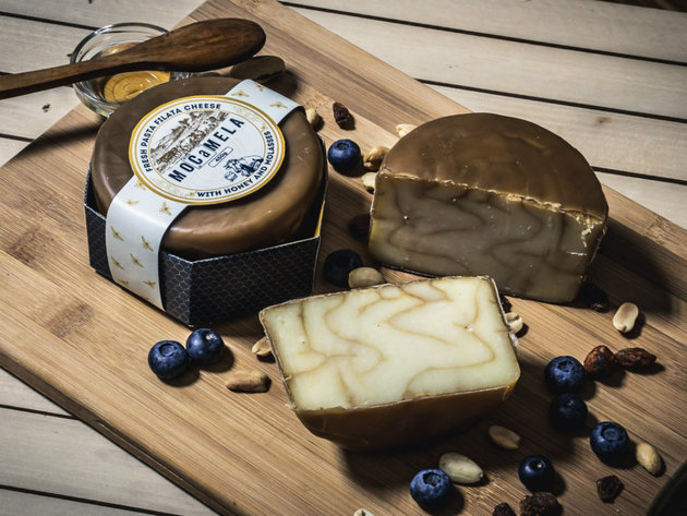 MOCaMELA cheese with honey and molasses