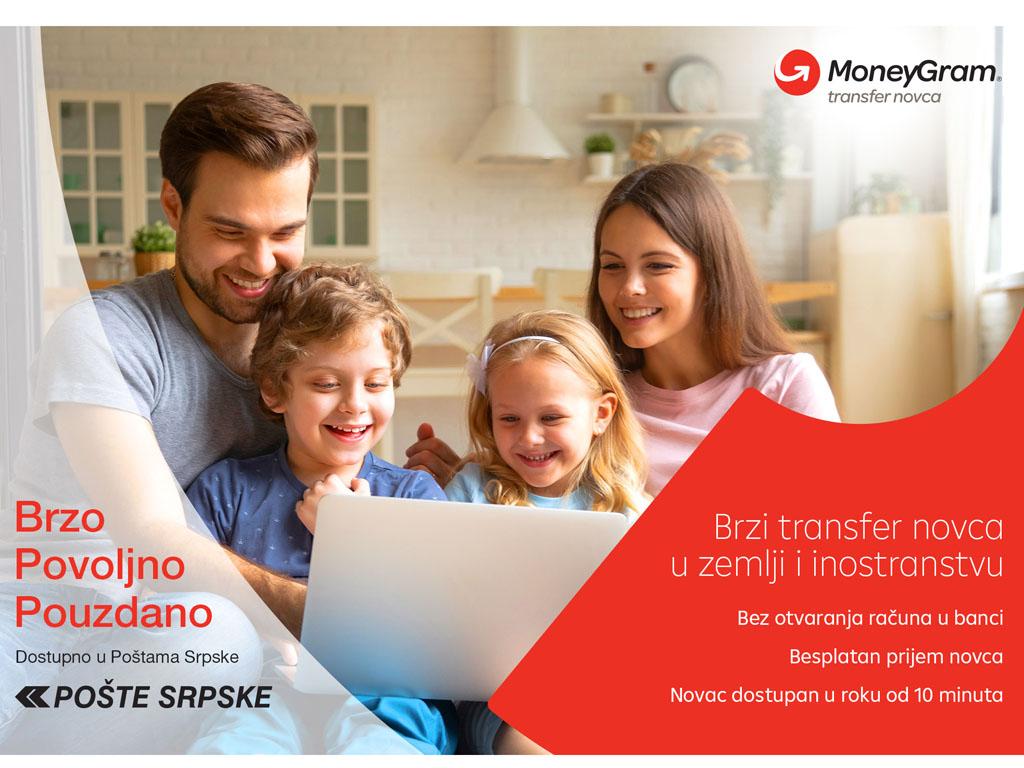 MoneyGram ugovorio partnerstvo s Poštama RS - Slanje novca na još 111 lokacija