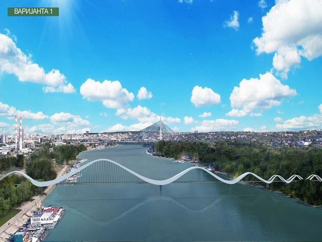 Varijanta 1: Novi most za pešačko-biciklistički saobraćaj
