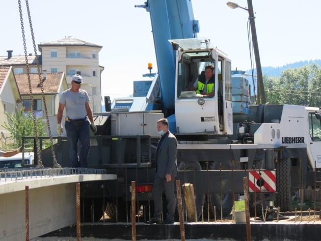 Počela izgradnja novog mosta na Palama