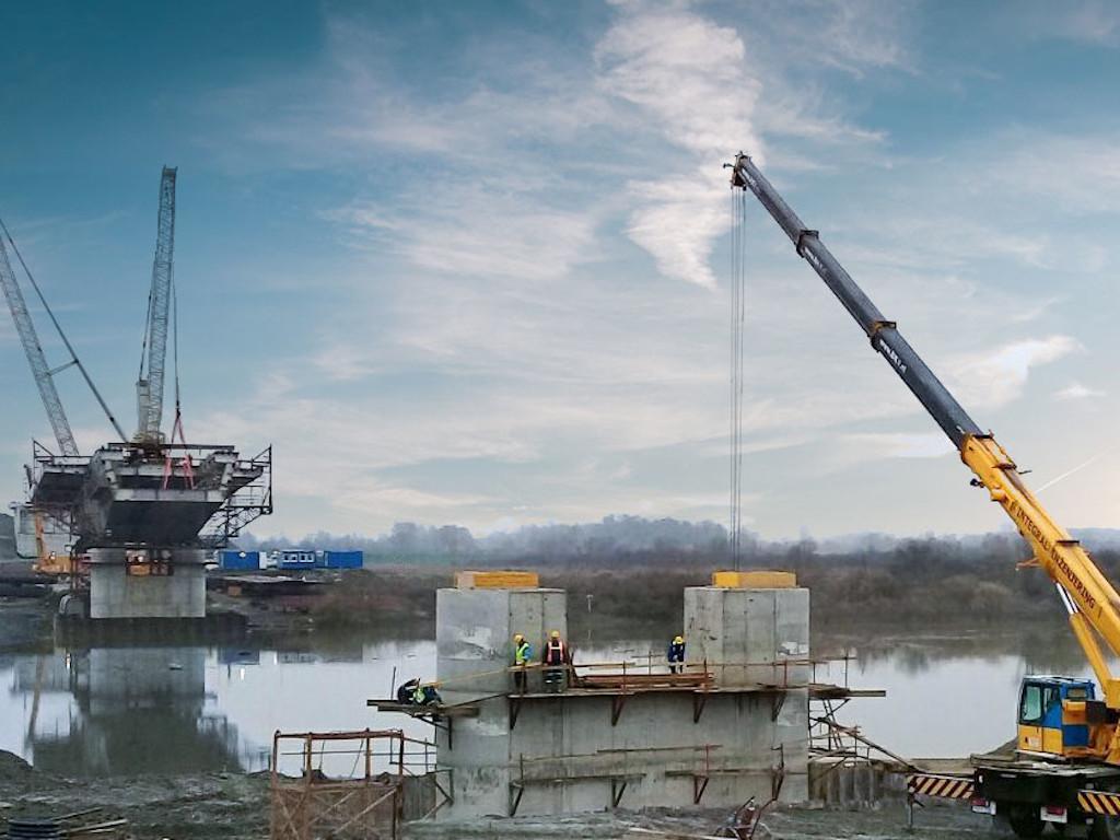 Napreduje izgradnja novog mosta na Savi kod Gradiške - Pogledajte kako izgleda gradilište (FOTO)