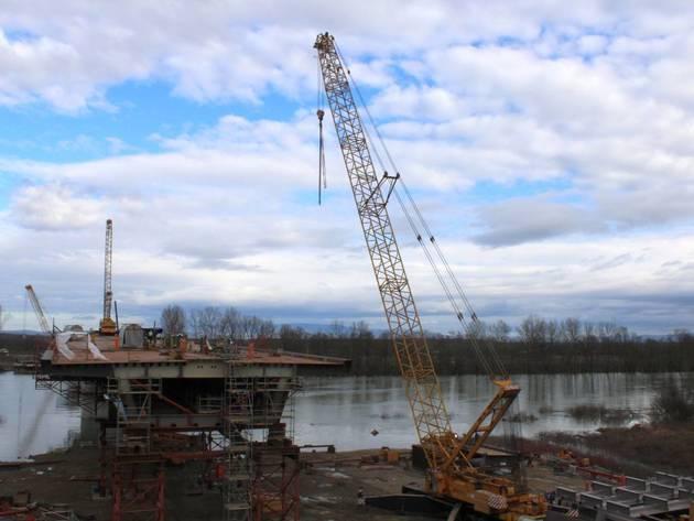 Novi most na Savi u izgradnji