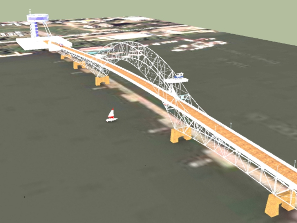 On foot to Lido - See how a bridge connecting Zemun Quay and Great War Island would look like