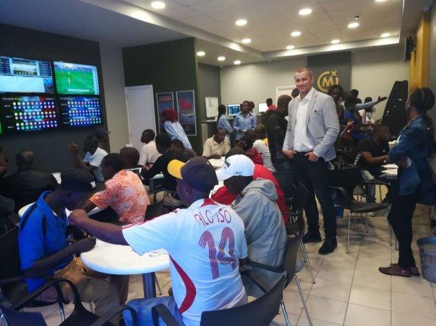 Mozzart manager Sasa Krneta in first branch in Nairobi