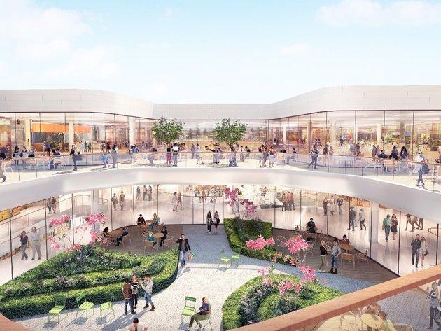 So wird das geplante Einkaufszentrum an der Kreuzung der Vojislava Ilica Straße mit der Mis Irbijeve Straße aussehen