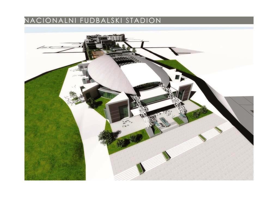 Sports complex, business and residential zone and commercial amenities - Here is how National Football Stadium in Zemun could look like (PHOTO)
