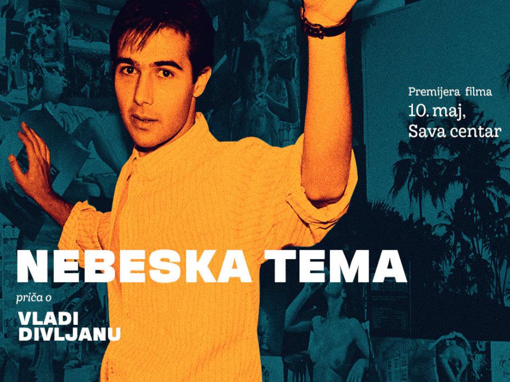 Premijera filma Nebeska tema o Vladi Divljanu 10. maja u Sava centru