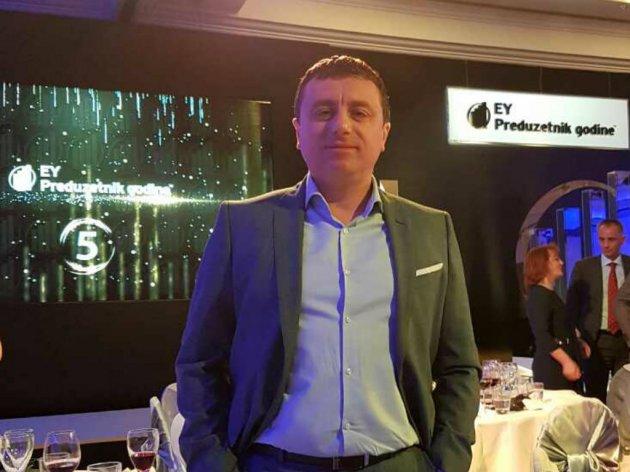 Mitar Obradović an der Preisverleihung EY Unternehmer des Jahres